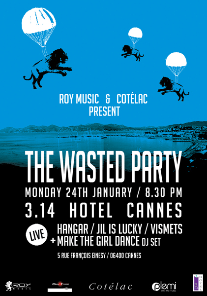Flyer Wasted Party recto
